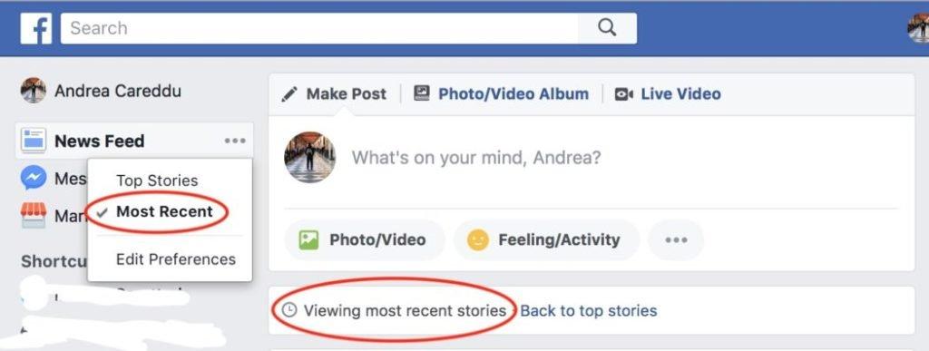 facebook più recenti
